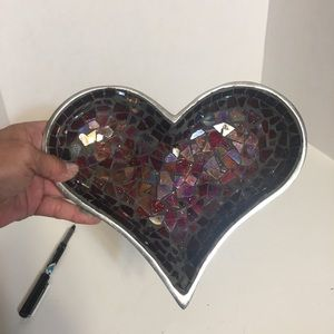 Large Heart Shaped Trinket Dish!